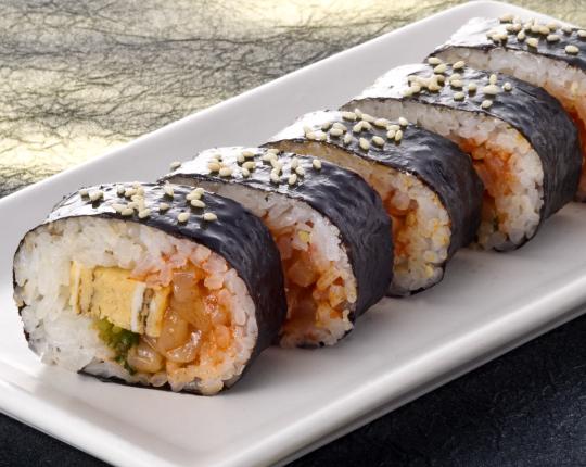 烏賊キムチの韓国風巻き寿司